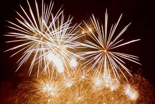 Nový rok - ohňostroj